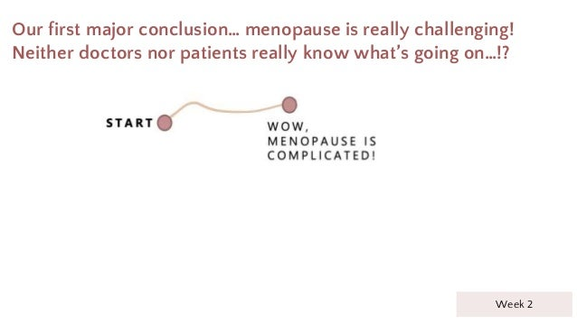 Our first major conclusion… menopause is really challenging! Neither doctors nor patients really know what's going on…!? W...