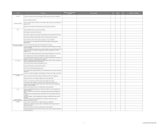 Registros o Documentos           Item                                                        Preguntas                    ...