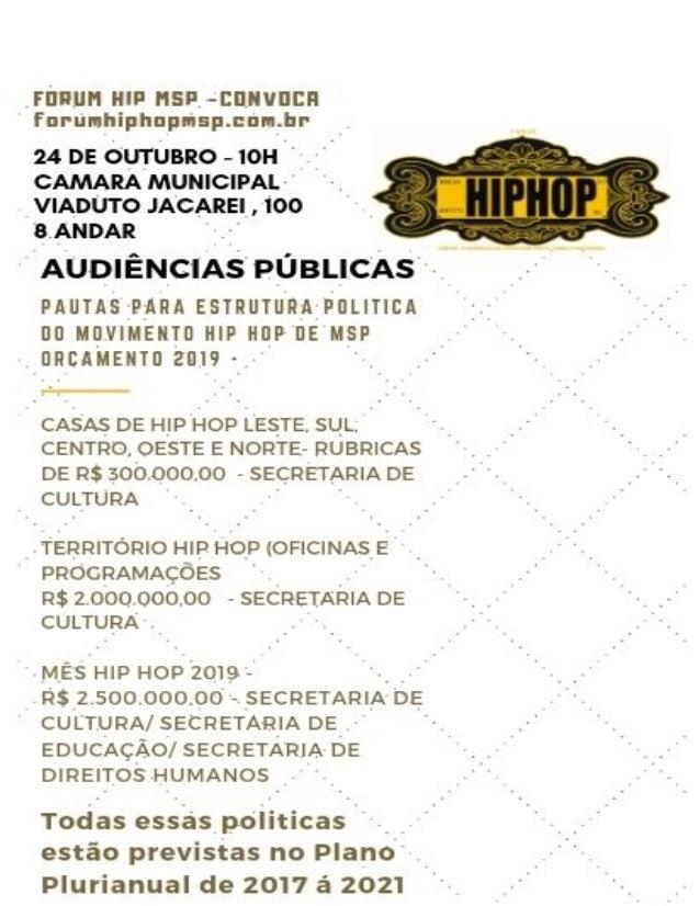 ESTRUTURA DE POLITICAS PÚBLICAS MOVIMENTO HIP HOP MSP