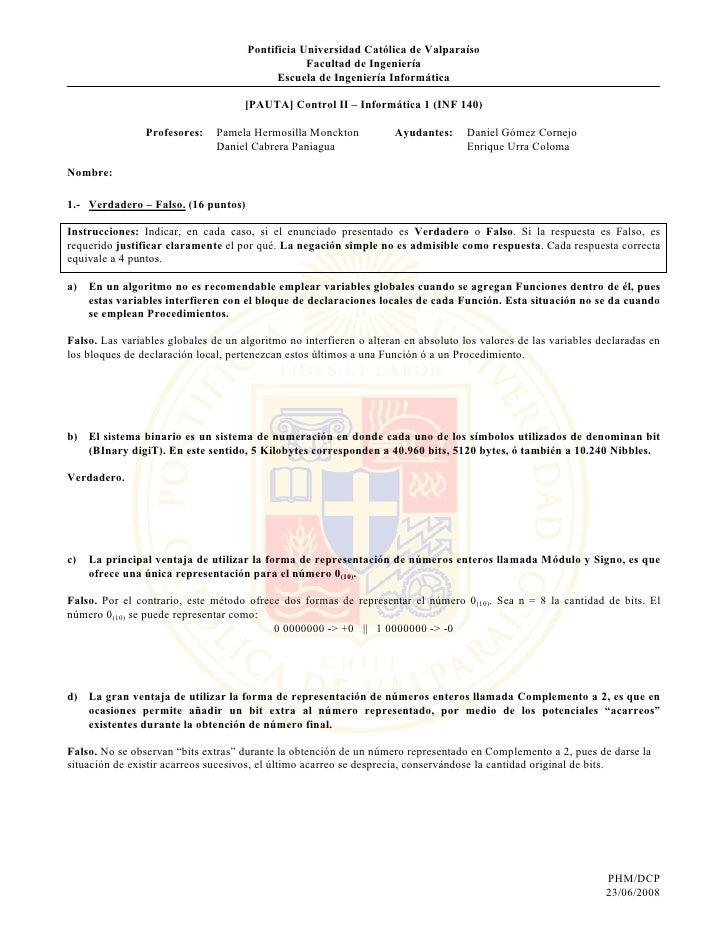 Pontificia Universidad Católica de Valparaíso                                                  Facultad de Ingeniería     ...