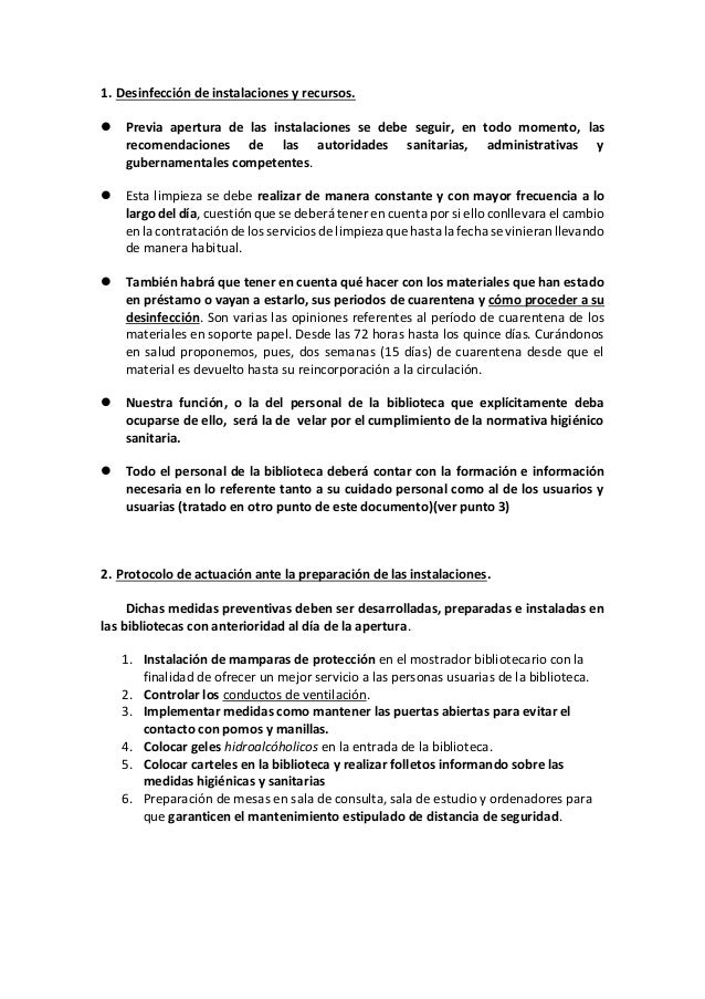 Pautas de actuación ante la reaperturade las bibliotecas de la Red de Lectura Pública de Euskadi Slide 3