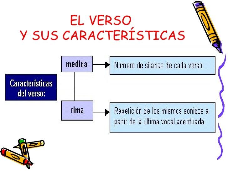 EL VERSO  Y SUS CARACTERÍSTICAS