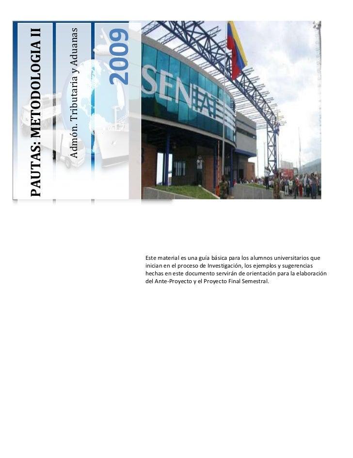 -180975023793450Este material es una guía básica para los alumnos universitarios que inician en el proceso de Investigació...