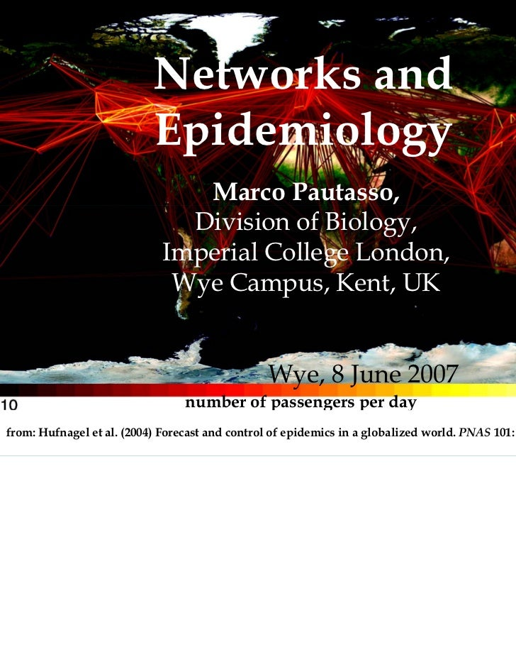 Networks and                           Epidemiology                                Marco Pautasso,                        ...