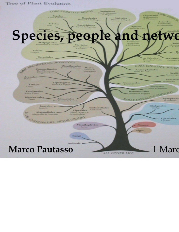 Species, people and networksMarco Pautasso      1 March 2010