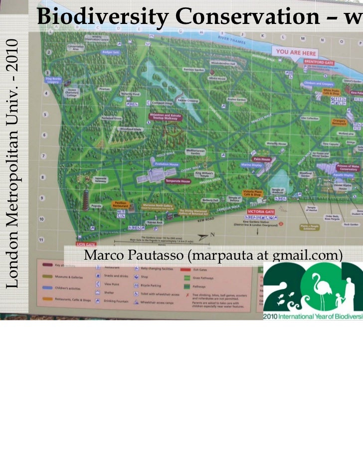 London Metropolitan Univ. - 2010   Biodiversity Conservation – week 8                                       Marco Pautasso...
