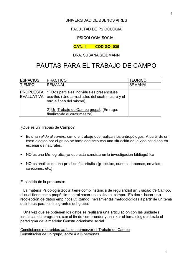 1                              UNIVERSIDAD DE BUENOS AIRES                                FACULTAD DE PSICOLOGIA          ...