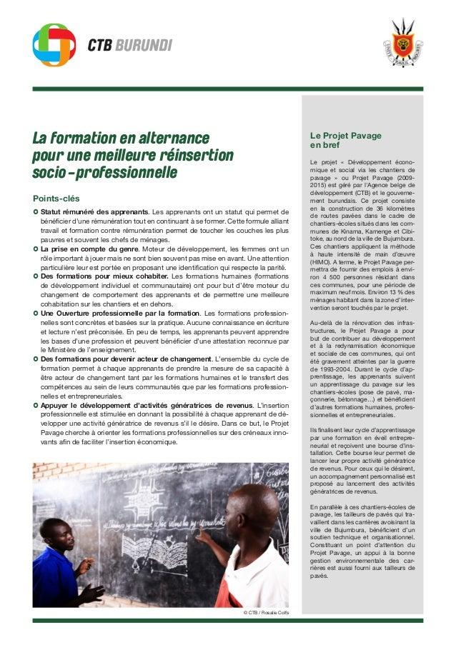 La formation en alternance pour une meilleure réinsertion socio-professionnelle Points-clés › Statut rémunéré des apprenan...