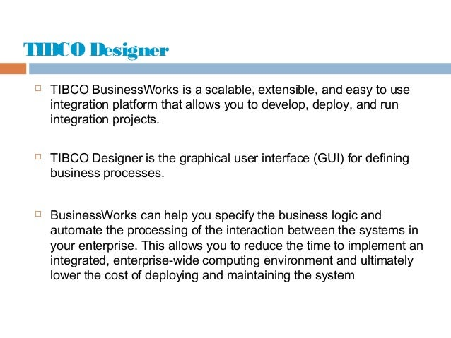 Learn tibco business works