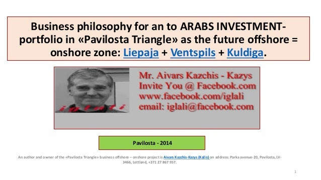 An author and owner of the «Pavilosta Triangle» business offshore – onshore project is Aivars Kazchis-Kazys (Kažis) on add...