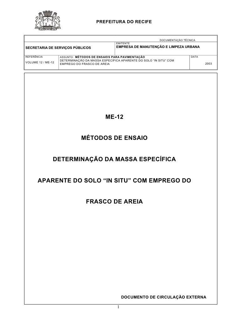 PREFEITURA DO RECIFE                                                                              DOCUMENTAÇÃO TÉCNICA    ...