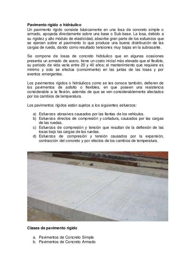 Pavimento rigido y tipos de pavimentos rigidos - Tipos de pavimentos ...