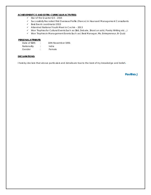 Pavithra Resume