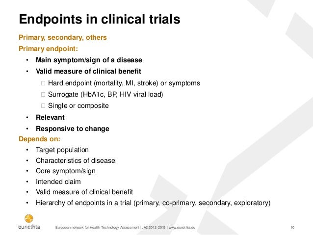 Clinical Trial Endpoints - Food and Drug Administration