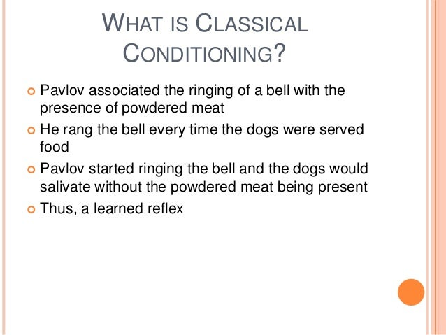 Kid Definition Of Classical Conditioning