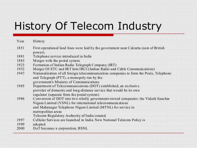 A brief history of telecommunication.