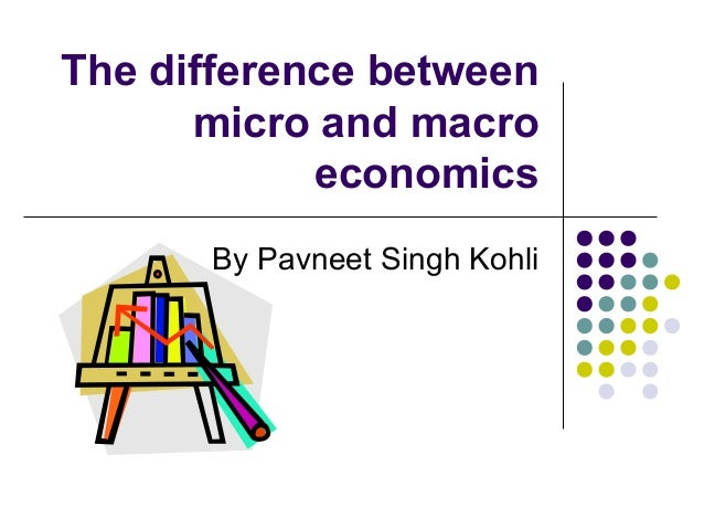 similarities between micro and macro economics In undergraduate level, there are very little connection between micro and macro micro is mostly about goods market and resources market while macro is mostly about goods market (domestic and international) and money market.
