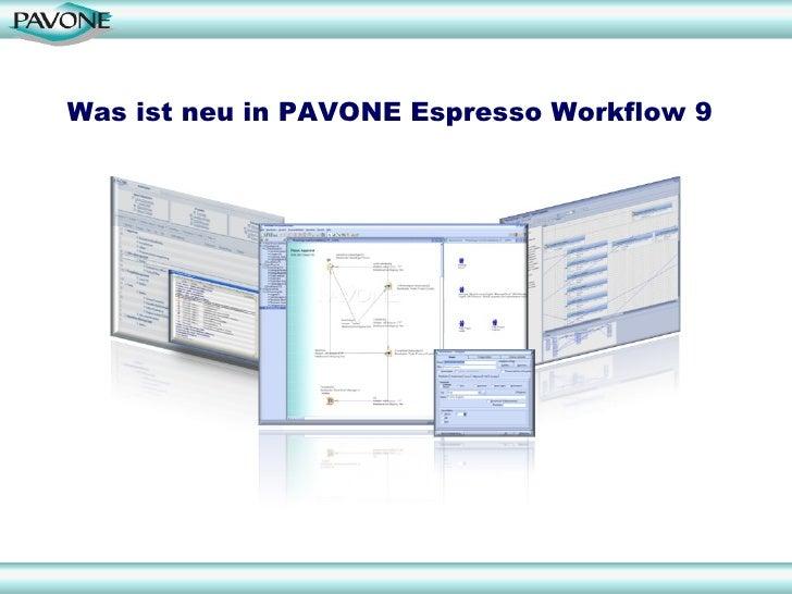 Was ist neu in PAVONE Espresso Workflow 9