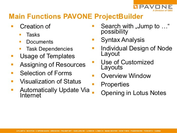 PAVONE Project Management 10 - What is new