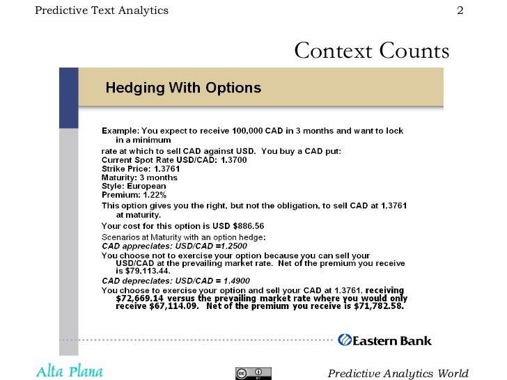 Predictive Text Analytics Slide 2