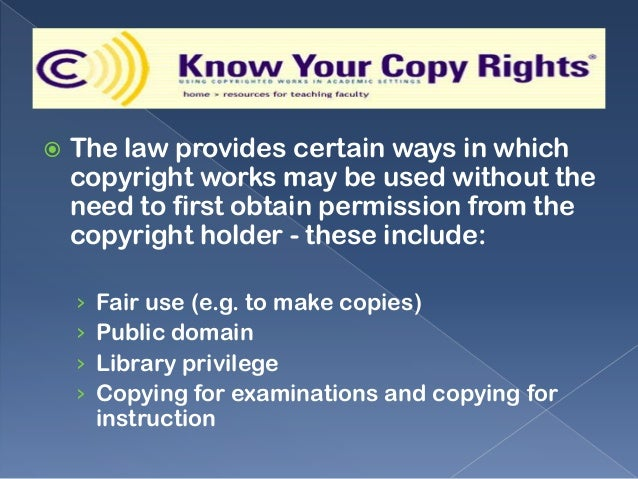 copyright fair benefit from case study