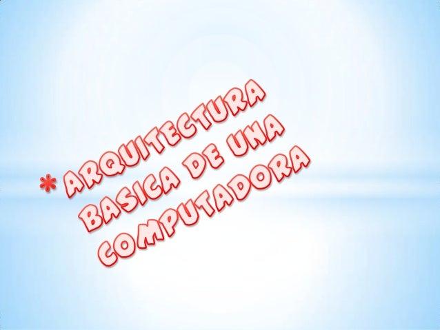 La arquitectura de computadoras es el diseño conceptual y laestructura operacional fundamental de un sistema decomputadora...