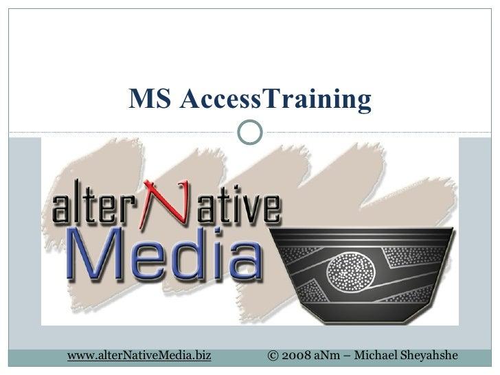 MS AccessTraining