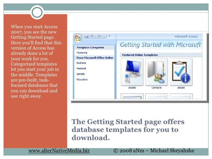 microsoft access training database templates