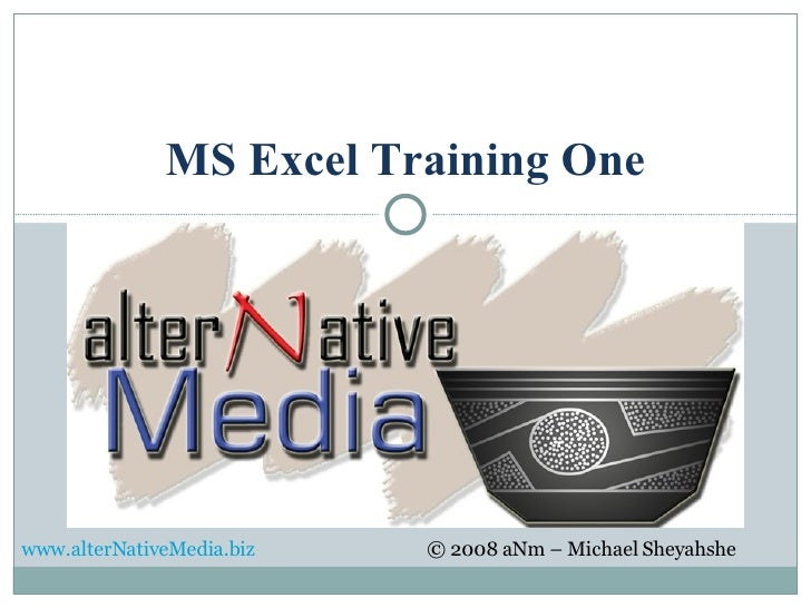 MS Excel Training One
