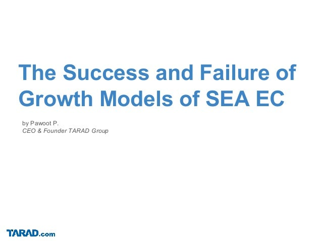 by Pawoot P. CEO & Founder TARAD Group The Success and Failure of Growth Models of SEA EC