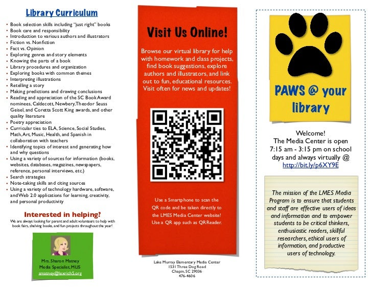 """Library Curriculum•   Book selection skills including """"just right"""" books••    Book care and responsibility    Introduction..."""