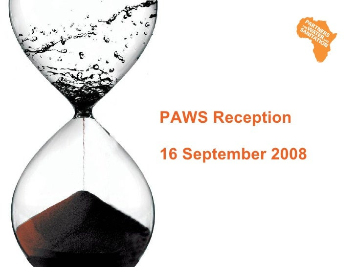 PAWS Reception  16 September 2008