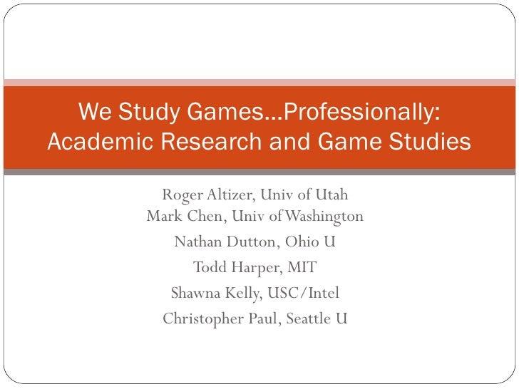 Roger Altizer, Univ of Utah Mark Chen, Univ of Washington Nathan Dutton, Ohio U Todd Harper, MIT Shawna Kelly, USC/Intel C...
