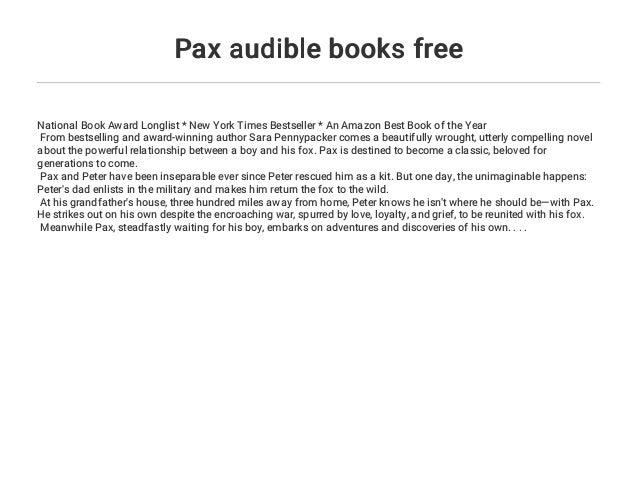 Pax audible books free