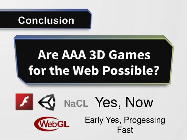 Are AAA 3D Games for the Web Possible? slideshare - 웹