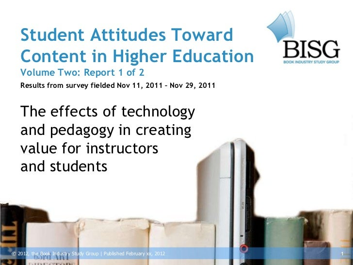 Student Attitudes Toward   Content in Higher Education   Volume Two: Report 1 of 2   Results from survey fielded Nov 11, 2...