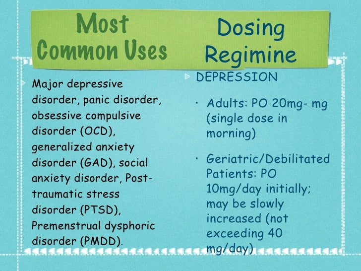 Paxil Cr Dosage Increase