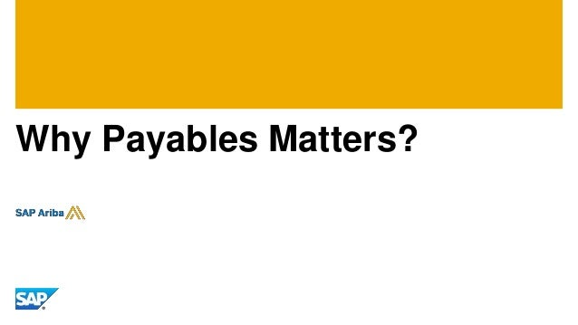 Why Payables Matters?