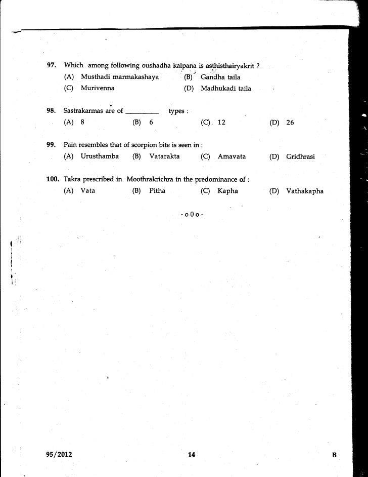 97.   Which among following oushadha kalnanl is asf.!3isthairyakrit            ?            (A) Musthadimarmakashaya      ...