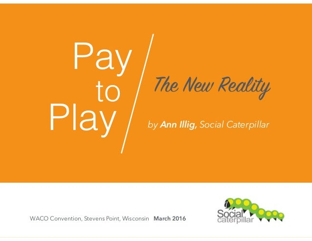 Pay to Play The New Reality WACO Convention, Stevens Point, Wisconsin March 2016 by Ann Illig, Social Caterpillar