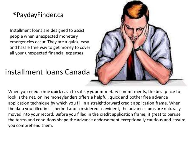 Installment Loans Canada up to $10,000 from Payday finder ca