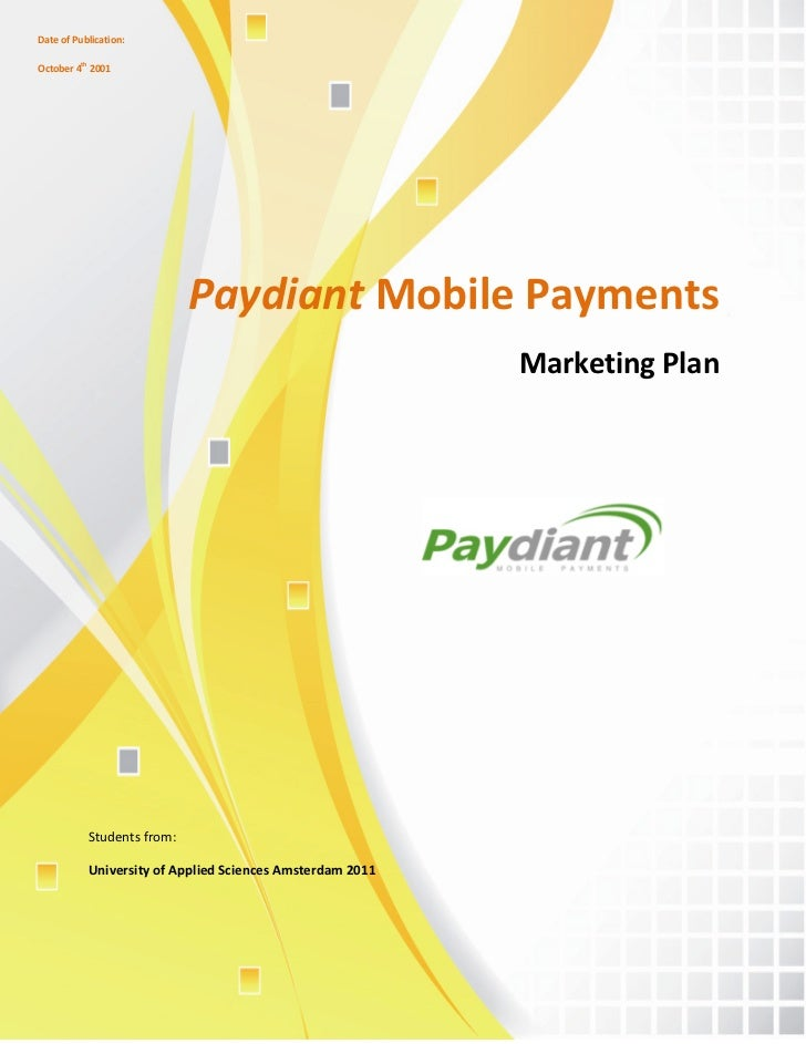 Date of Publication:October 4th 2001                            Paydiant Mobile Payments                                  ...