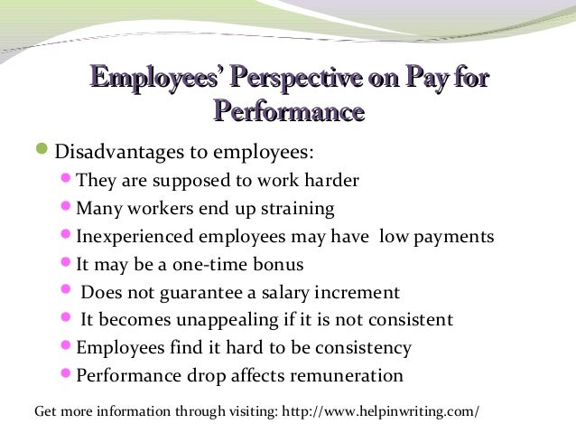 the pros and cons of individual performance related pay The pros and cons of performance-related pay  the government's plans to move towards performance-based payment progression in the public sector have been met with a mixed response annie makoff looks at the pros and cons of perform.