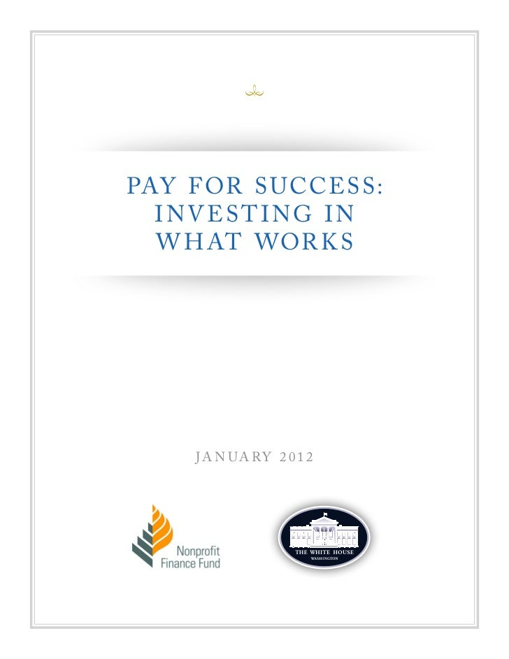 Pay For Success Report 2012