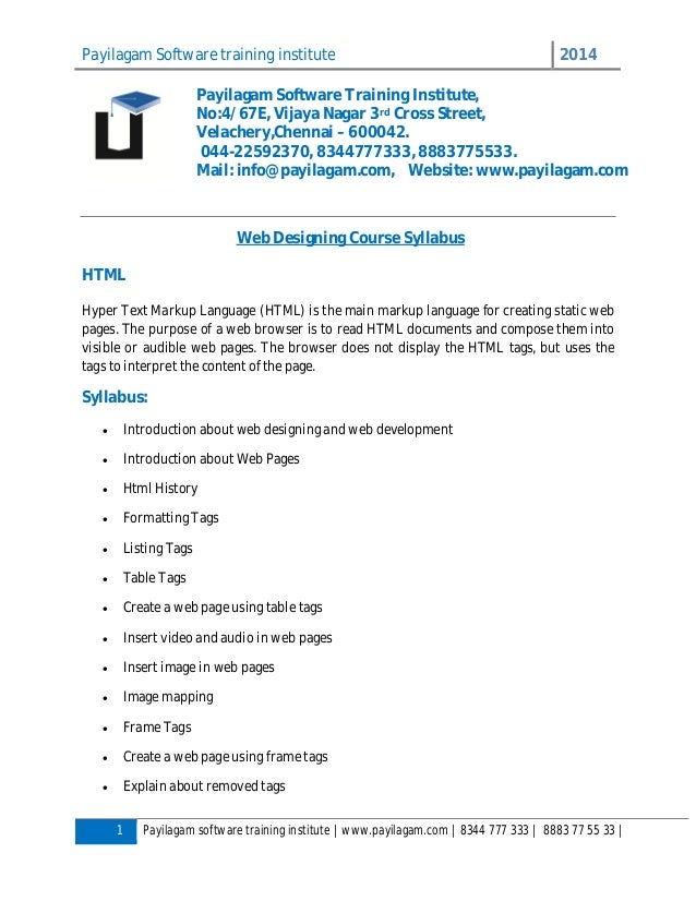 Payilagam Software training institute 2014 1 Payilagam software training institute | www.payilagam.com | 8344 777 333 | 88...