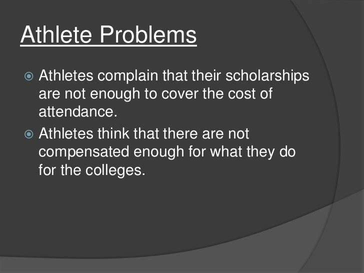 the ethical issue surrounding not paying ncaa athletes Student-athletes: conduct and ethics  ncaa rule or regulation which he/she does not understand from a member of the coaching staff  on the playing field.