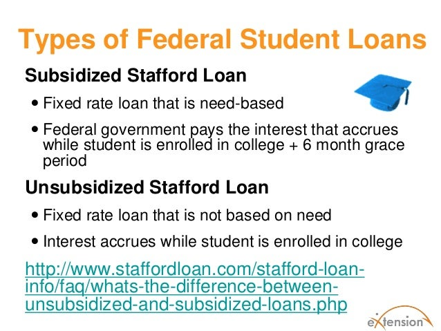 Subsidized And Unsubsidized Loans Federal Student Aid | Autos Post