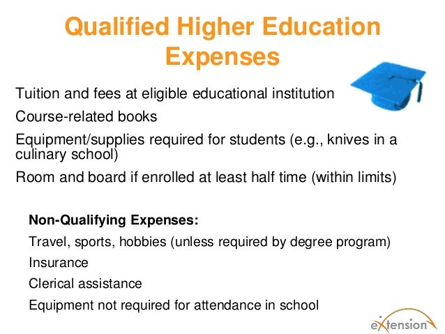 Qualified Higher Education Expenses Room And Board