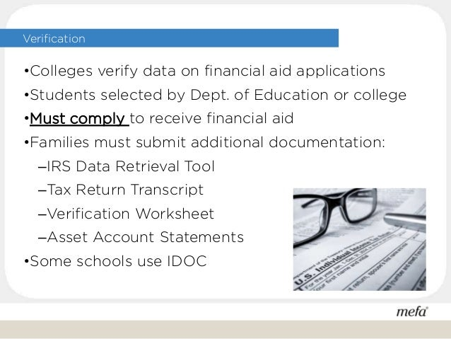 Paying the College Bill – Idoc Verification Worksheet