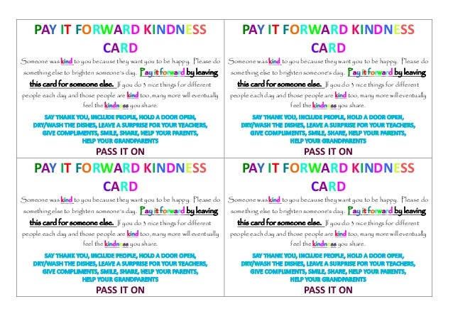 Pay it forward thesis